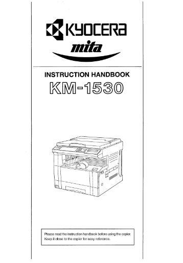 KM-1530 Instruction Handbook - KYOCERA Document Solutions