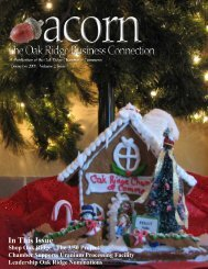 acorn December 2009 - Oak Ridge Chamber of Commerce
