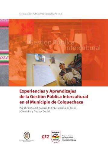 Experiencias y Aprendizajes de la Gestión Pública Intercultural en el ...