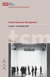Human Resource Management - TSM