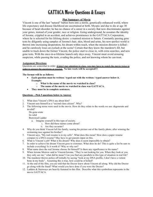 Gattaca essay