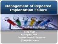 Management of Repeated Implantation Failure
