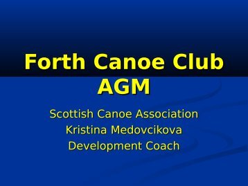 Sprint Report - Forth Canoe Club