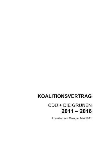 Koalitionsvertrag 2011-2016 Finale Version Internet - CDU ...