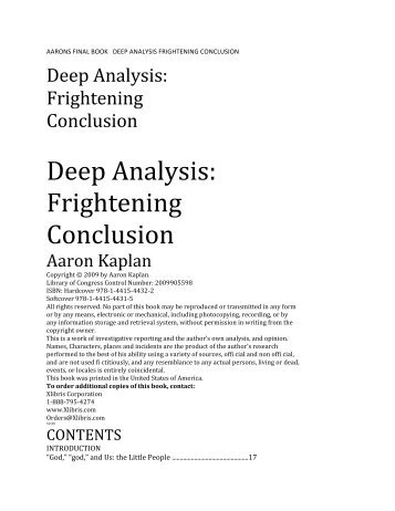 Deep Analysis: Frightening Conclusion