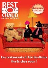 Les restaurants d'Aix-les-Bains livrés chez vous ! - Restochaud
