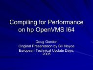 Compiling for Performance on hp OpenVMS I64