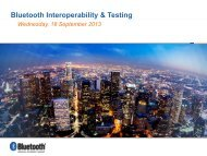 Bluetooth Interoperability & Testing