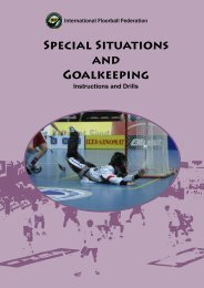 SpEcIAL SITUATIONs AND GOALkEEpING - Wellington Floorball