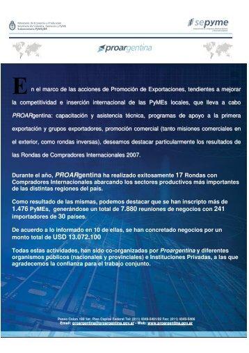 n el marco de las acciones de Promoción de Exportaciones ...