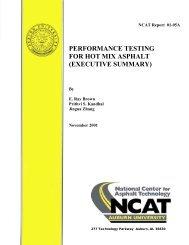 performance testing for hot mix asphalt ... - Auburn University