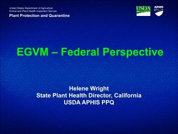 EGVM – Federal Perspective - CASAP