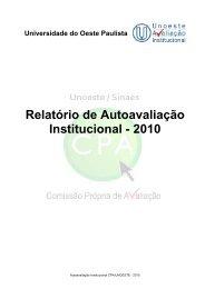 Relatório de Autoavaliação Institucional - 2010 - Unoeste