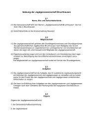 Satzung der Jagdgenossenschaft Bruchhausen