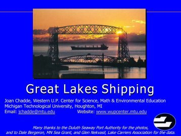 Great Lakes Shipping - Center for Science, Mathematics, and ...