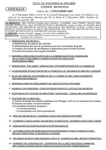 2009 conseil du 09_12.pdf - Bagnères de Bigorre