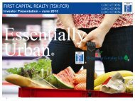 Properties - First Capital Realty