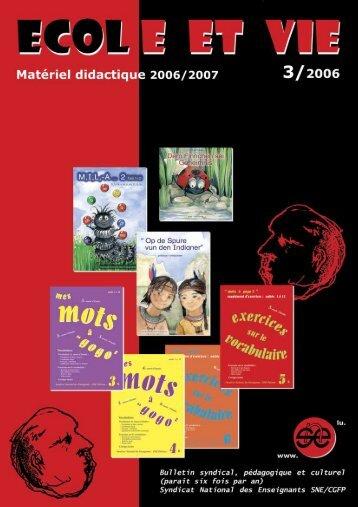 version pdf du bulletin - catalogue 03/06 - SNE