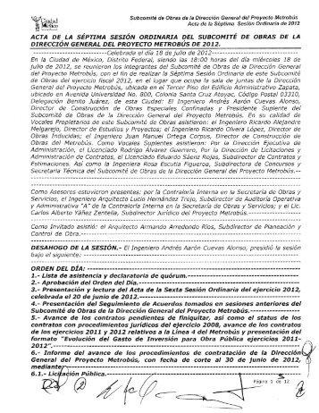 Ce/ebrada el día 18 de julio de 2012 - Secretaria de Obras y Servicios