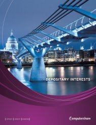 depositary interests - Computershare