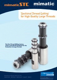 'Sectional Thread Cutting' for High Quality Large Threads