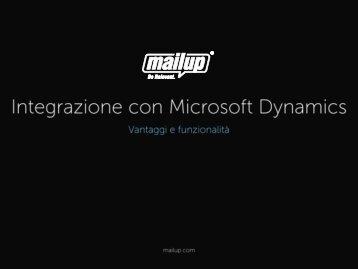 Scarica la presentazione generale - MailUp