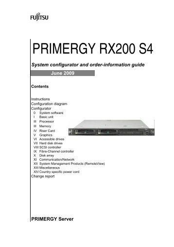 PRIMERGY RX200 S4 - Nettailer