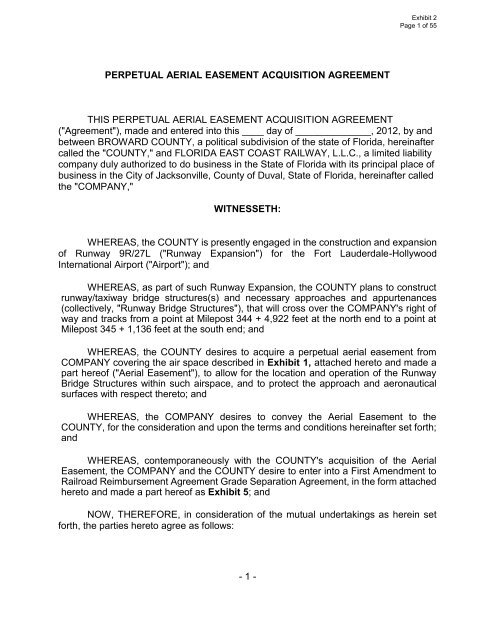 1 Perpetual Aerial Easement Acquisition Agreement