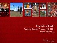 Reporting Back - Tourism Calgary