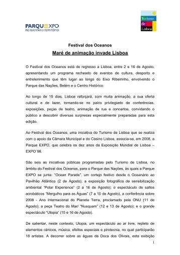 Press Release Parque Expo / Turismo de Lisboa - Associação ...