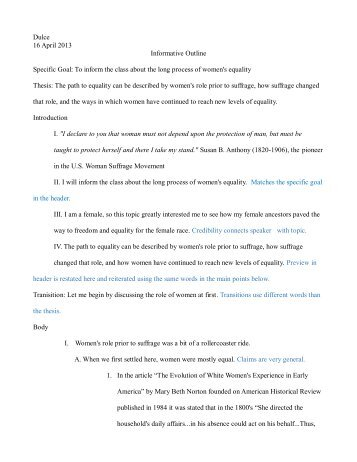 Sample Outline For A Manuscript Speech Opening Main Body