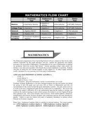 mathematics flow chart mathematics - East Aurora School District #131