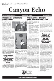 Jul/Aug 2004 - Arizona Sierra Club