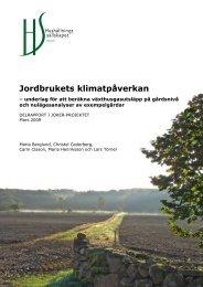 Jordbrukets klimatpåverkan - Hushållningssällskapet i Halland