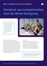 Versterk uw competenties met de Wmo-leergang - Movisie