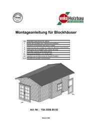 Montageanleitung für Blockhäuser Art.-Nr.: 154.3556.00.02