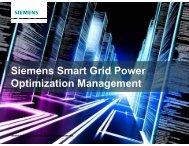 Siemens Smart Grid Power Siemens Smart Grid Power Optimization ...