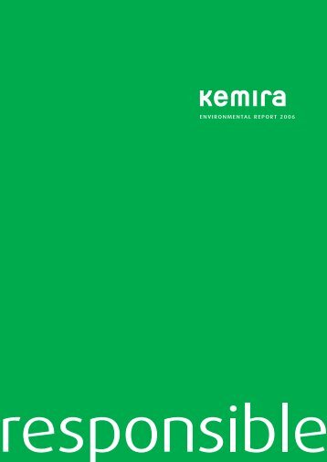 Environmental report 2006 (.pdf) - Kemira