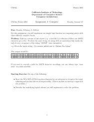 Assignment 4: Compute - Caltech