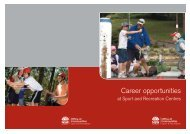 Holiday staff - Career opportunities at Sport and Recreation Centres