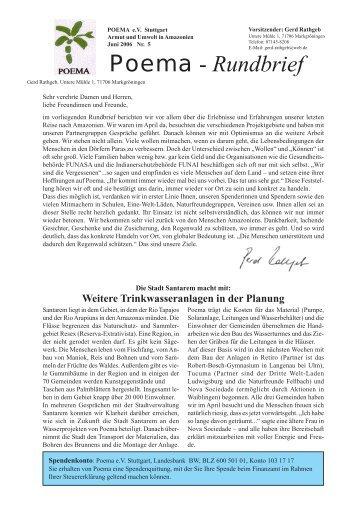 POEMA Deutschland Rundbrief 5