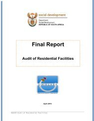 Audit of Residential Facilities, Final report - Division for Social Policy ...