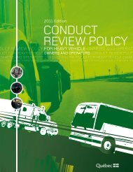 Conduct Review Policy for Heavy Vehicle Owners and Operators ...