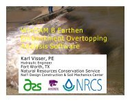 WinDAM B Earthen Embankment Overtopping Analysis Software
