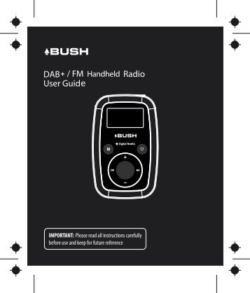 DH03 BUSH BPR07DAB portable radio 23th, Mar ... - Bush Australia
