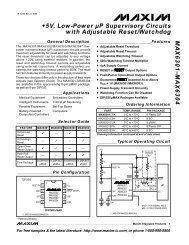MAX6301–MAX6304 +5V, Low-Power µP Supervisory Circuits with ...