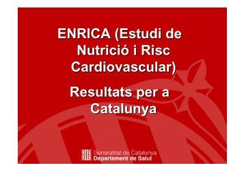 Risc Cardiovascular - Premsa - Generalitat de Catalunya