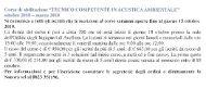 Corso di Abilitazione 'Tecnico Competente in Acustica Ambientale'