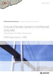 Critical chloride content in reinforced concrete - Sintef