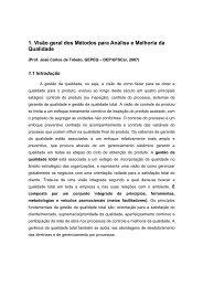 1. Visão geral dos Métodos para Análise e Melhoria da Qualidade